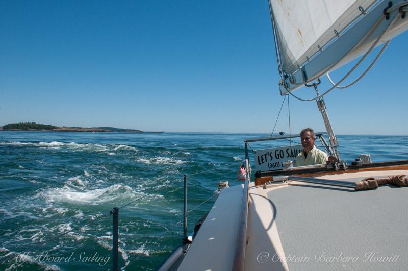 Capt David at the helm