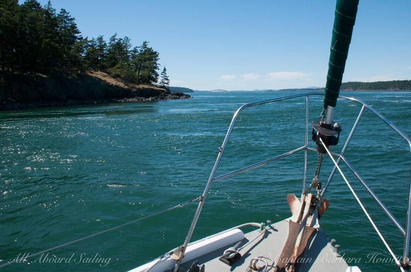 Sailing at 11 knots past Turn Island