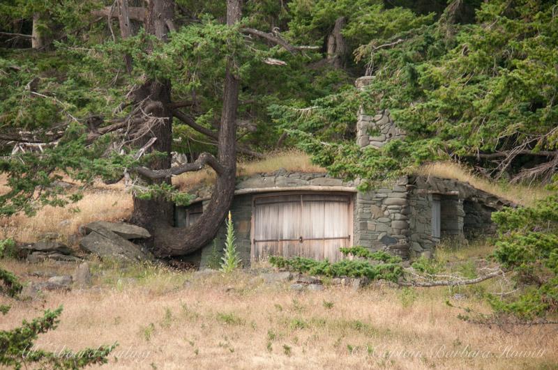 House partially underground