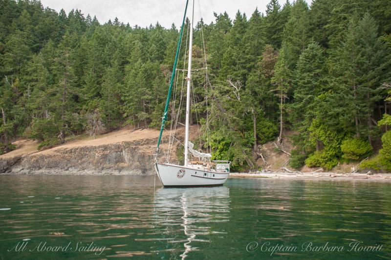 Peniel at anchor
