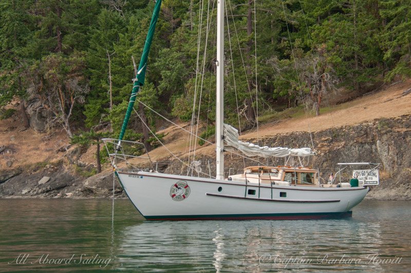 Peniel at anchor near Stuart Island