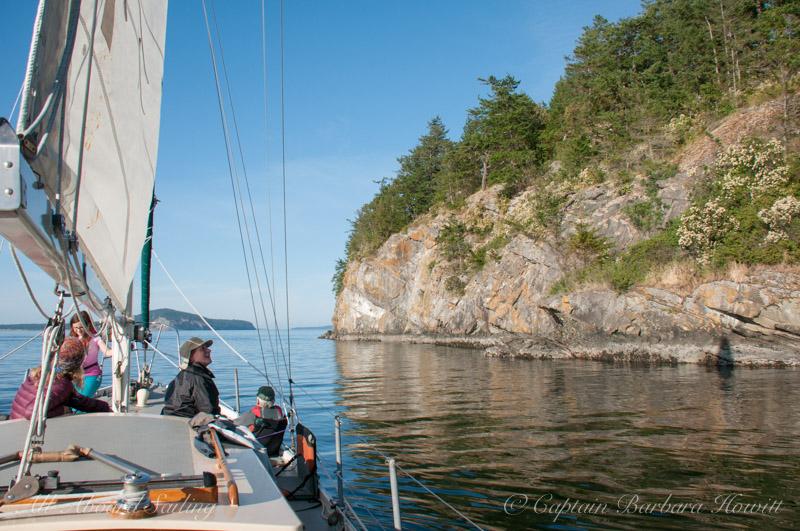 Sailing next to Flattop Island