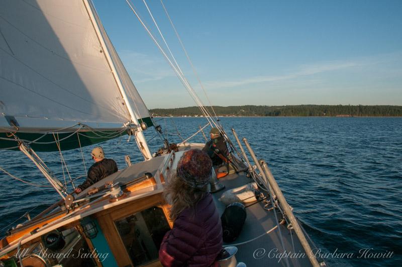 Sailing to Lopez Island