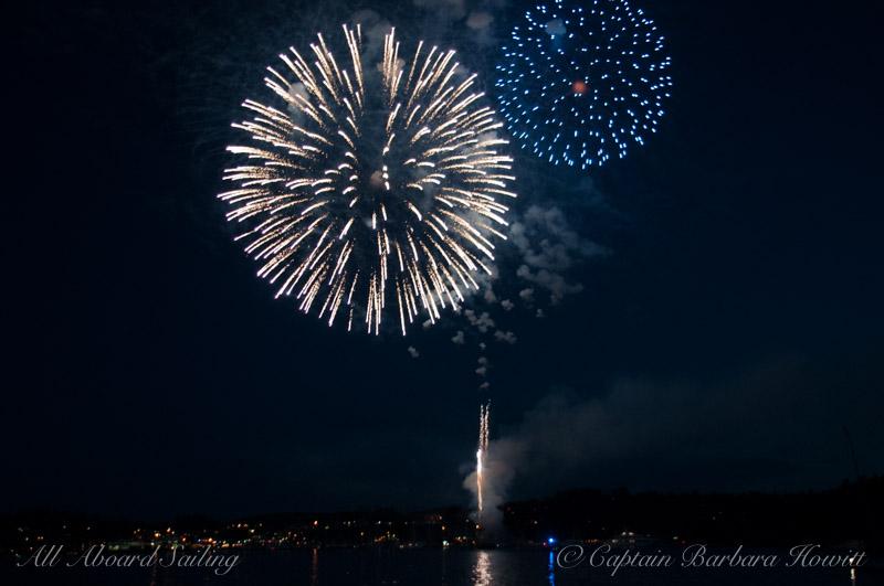 Fireworks over Friday Harbor