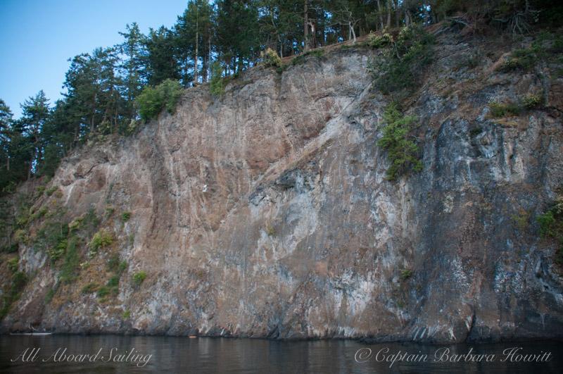 Cliff on Spieden Island