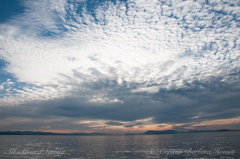 Beginnings of a mackerel sky