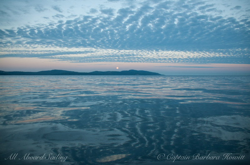 Moon rise over San Juan Island