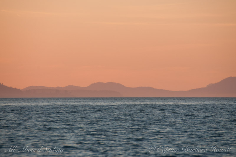 Sunset over San Juan Channel