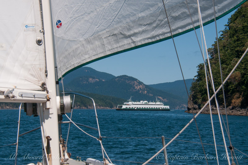 Sailing to Upright Head, Lopez Island