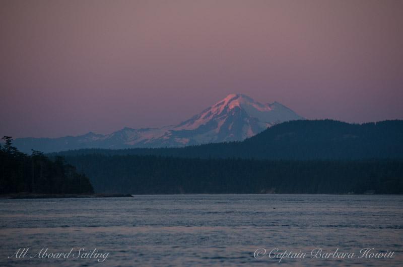 Mt Baker at sunset