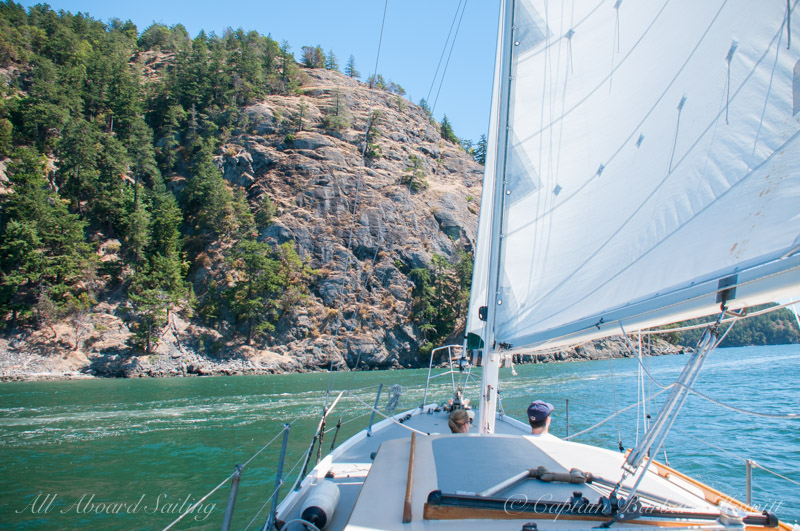 Sailing to Blakely Island