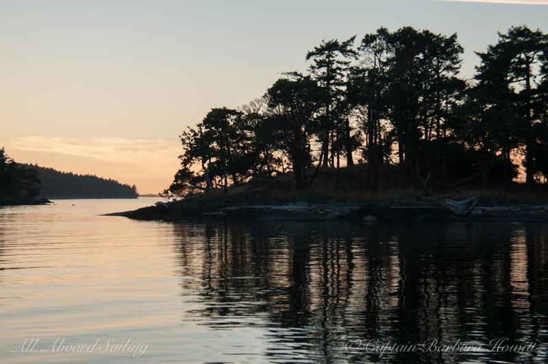 Sunset over Turn Island