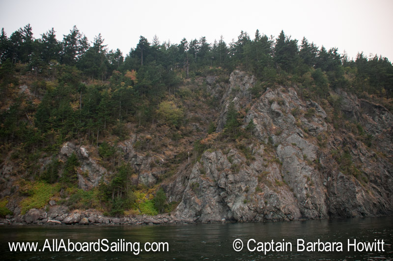 Dramatic cliff on Orcas Island