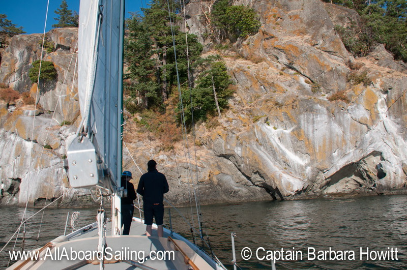 Sailing towards Lovers Leap