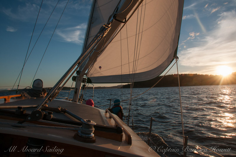 Sailing Upright Channel, Lopez Island