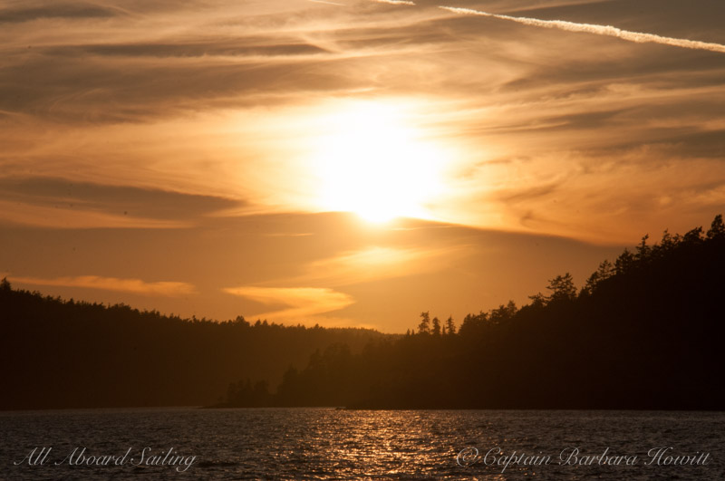 Sunset Sailing into Friday Harbor
