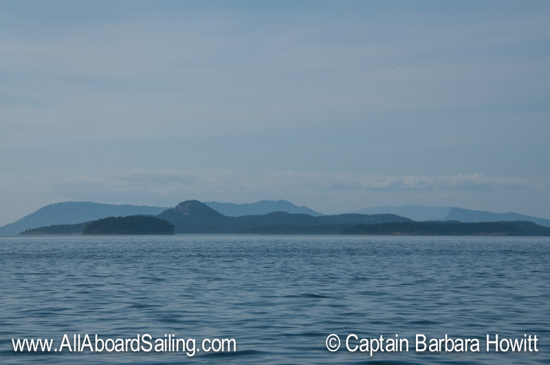 Sailing North from San Juan Island