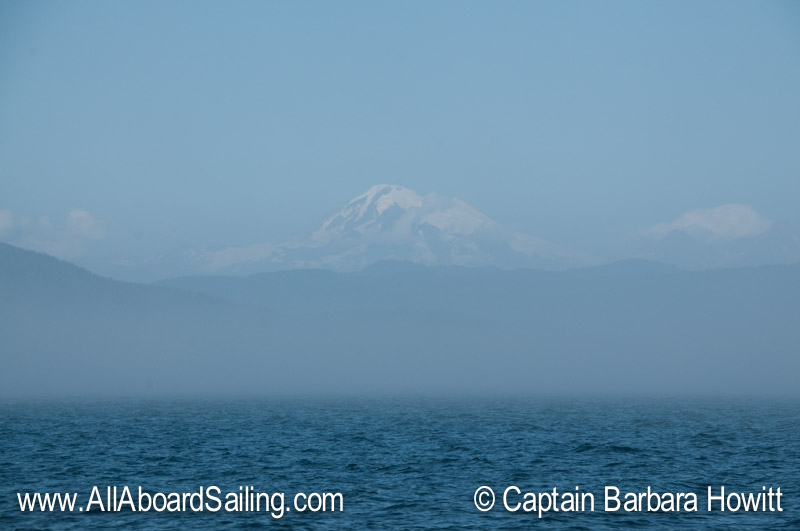 Mount Baker over the fog