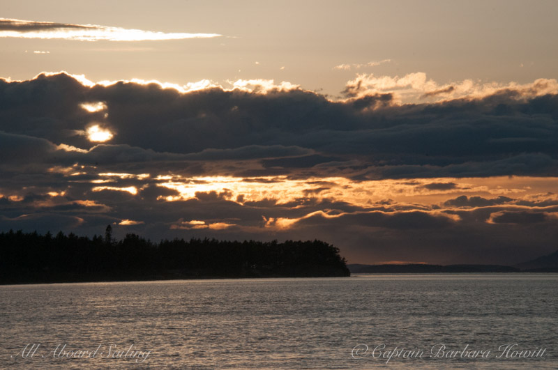 Sunset Sail Limestone Point San Juan Island