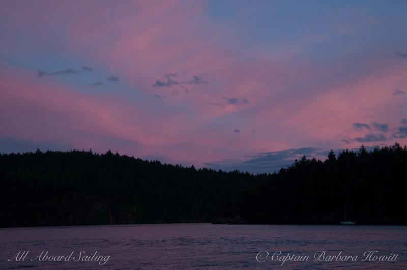 Twilight over Orcas Island