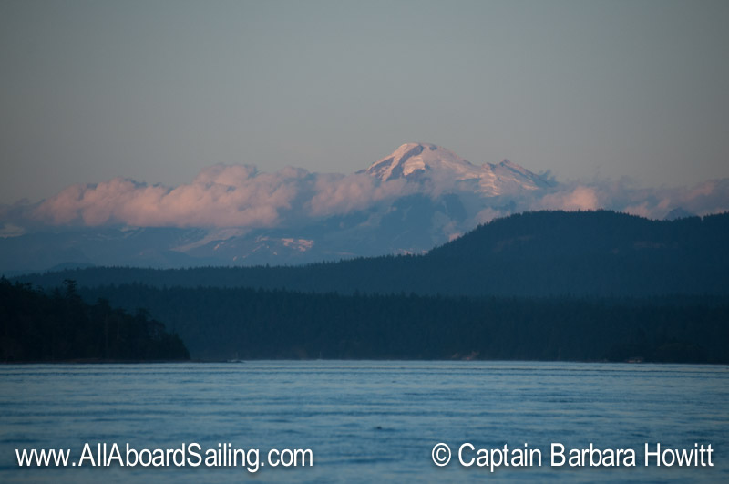 Mount Baker in sunset light