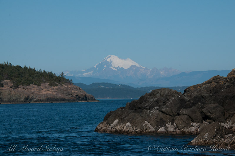 Mount Baker view from South Lopez Island