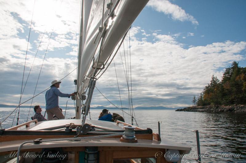 Sailing passed Waldron Island