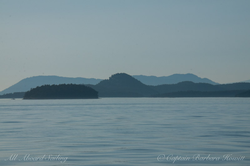 Landscape layers of the San Juan Islands