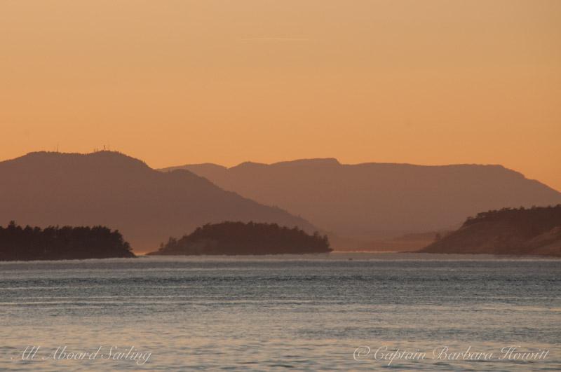 Sunset sail home