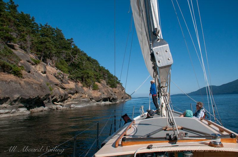 Sailing around Sucia Island