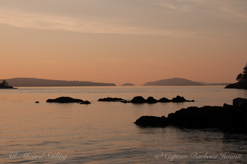 Sunset in Wasp Pass, San Juan Island