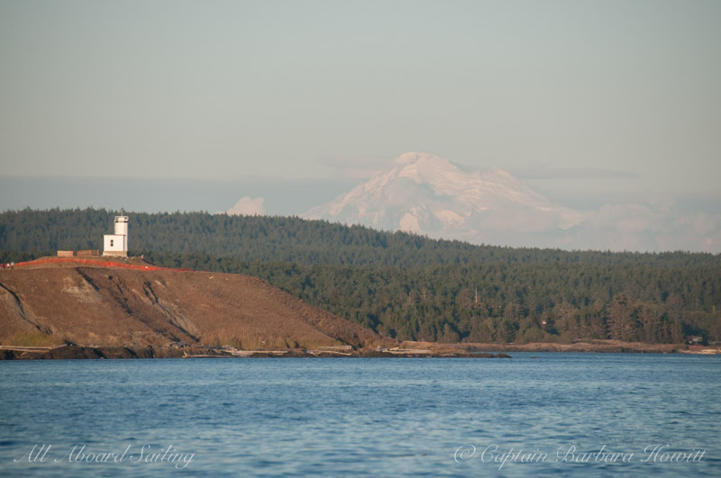 Cattle Point Lighthouse and Mt Baker