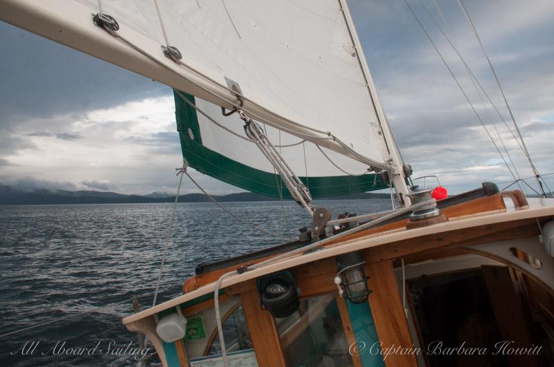Sailing back to Friday Harbor