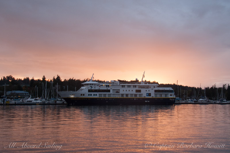 National Geographic cruise ship in Friday Harbor