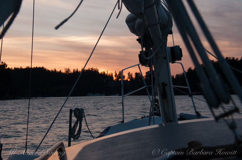 Sailing back at sunset