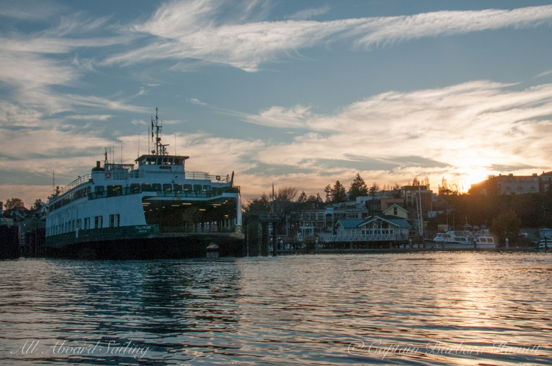 Sunset over Friday Harbor